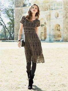 Crochetemoda: Vestido de Crochet  perfect for fall