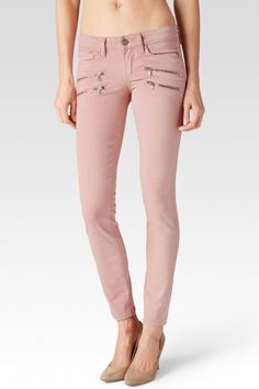 With their bright, bold hue, Paige Denim's Edgemont jeans are the label's standout skinny-fit style. With their streamlined cut that hugs the leg down to the narrow leg opening and flattering mid rise, they're an essential all–rounder for any staple wardrobe. Paige stretch-denim jeans. Exposed button and concealed zip-fly fastenings at front. Skinny, mid-rise, belt loops, five pockets, silver-toned branded hardware, double zip pockets at front, brand tab at back waistband, signature…