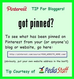 Pinterest Tip for Bloggers, and curious pinners!!  -  Pinned by @PediaStaff – Please Visit http://ht.ly/63sNt for all our pediatric therapy pins