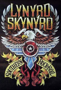 Lynyrd Skynyrd Southern Rock&Roll Music Image Print Poster Size for sale online Lynyrd Skynyrd, Rock Posters, Band Posters, Concert Posters, Rock And Roll Bands, Rock N Roll Music, Rock Roll, Rockband Logos, Woodstock