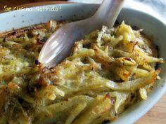 gratin di patate finocchi e acciughe