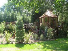 Awesome backyard  tree house