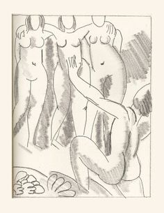Nausicaa (one of six etchings illustrating James Joyce's Ulysses) 1935, Henri Matisse (SFMOMA)