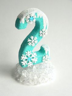 Birthday Cake Topper Number Frozen by twistedlollyboutique on Etsy, $10.00