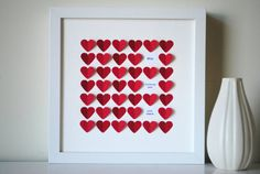 Personalized Mother's Day Gift-3D Heart Art from SuzyShoppe on etsy.com