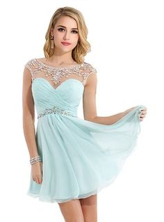 Chiffon Cheap Homecoming Dresses New Short Party Dresses For Teens