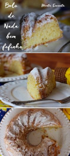 bolo de nada Portuguese Desserts, Chocolate, Dory, Sweet Recipes, French Toast, Good Food, Food And Drink, Banana, Treats
