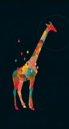 Giraffe in modernem Gewand