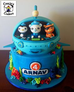 Octonauts Cake Octanauts Party 4th Birthday Parties Cakes 3rd