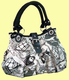 Nightmare Before Christmas Jack White Shoulder Tote Bag Handbag Weekend Purse