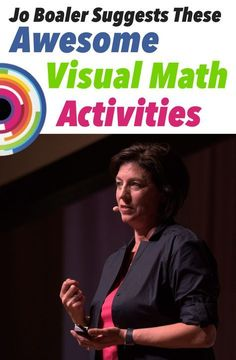 Jo Boaler Suggests These Awesome Visual Math Activities — Mashup MathJo Boaler has started a math revolution that has likely already made its way into your classroom. The Stanford Professor of Mathematics and author of . Math Teacher, Math Classroom, Teaching Math, Classroom Displays, Teacher Stuff, Classroom Decor, Math Resources, Math Activities, Math Games