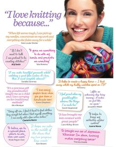 """I love knitting because..."""