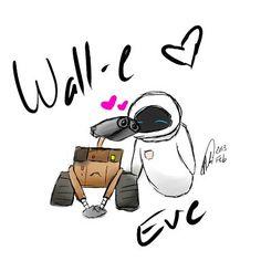 Siempre juntos Wall E Eva, Disney Drawings, Cute Drawings, Disney Magic, Disney Art, Walle And Eva, Cute Inspirational Quotes, Micro Lego, Tumblr Stickers