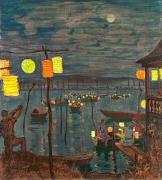 Hans Dieter (German, 1881-1968) - Sommernacht. (Summer Night)