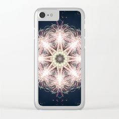 New year colorful sparkly fireworks mandala Clear iPhone 6 7 Case by #Crazy4patterns #happynewyear #newyear #fireworks #mandala
