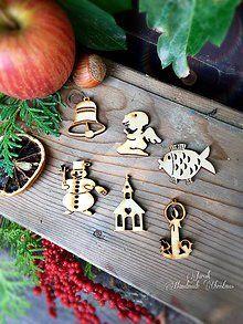 Dekorácie - Vianočné výrezy cca 4 cm - 7172957_