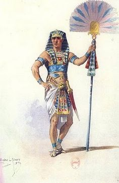"""Egyptian """"schenti"""" (that was orginally worn only by the Pharaoh) take over by the upper middle classes."""