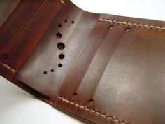 Leather slits for cards