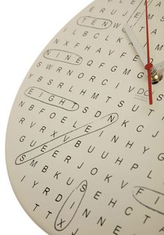 Word Search Clock