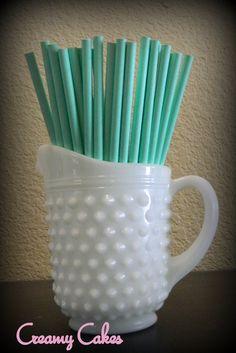 Tiffany Blue Solid Paper Straws 25 ct.-Mint green-tiffany wedding-tiffany shower-tiffany birthday-tiffany party. $3.75, via Etsy.