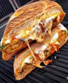 Zucchini parm panini via FoodPorn on September 23 2018 at - My list of the most healthy food recipes Think Food, I Love Food, Good Food, Yummy Food, Healthy Food, Food Goals, Aesthetic Food, Food Cravings, Food Photography