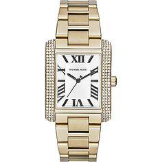 MICHAEL KORS Jewel-encrusted square watch. #Watch