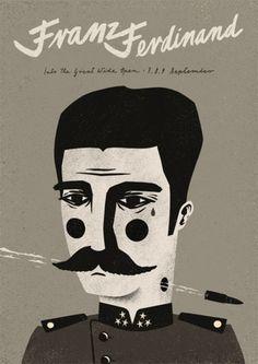 Dawid Ryski, Franz Ferdinand concert poster, image courtesy of the artist