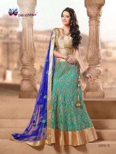 Indian Ethnic Bollywood Designer Exclusive Party Wear Lehenga Choli  1008 B #Unbranded #LehengaCholi - $90