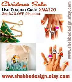 www.shebbodesign.etsy.com  use coupon code XMAS20 and get 20% OFF Discount in my #etsy shop! Christmas #SALE!