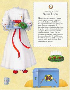 Kirsten Paper Dolls an AMERICAN GIRL by Pleasant Company Publications, 1994: Page 9 (of 26). Even pages are the backs of odds and contain description of outfit and possibly book page (1 through 20)