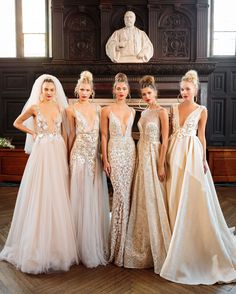 Now that's our kind of line up. Stunning new @bertabridal gowns straight from the Bridal Fashion Week runway.