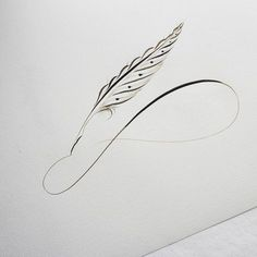 last one of this kind I promise! I need to learn new variations haha But first, here's a closer look on that quill flourish I made from my last video...