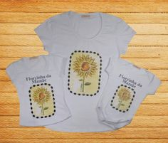 T-shirt florzinha da mamãe.