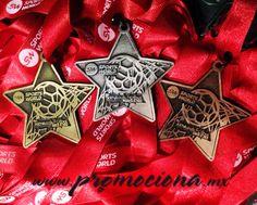 Medalla diseño especial Torneo Futbol en oro, plata y bronce, listón impreso 1 tinta. #medalla #promocionales #carrera #medallas http://www.promociona.mx/index.php/medalla-dise-o-especial.html