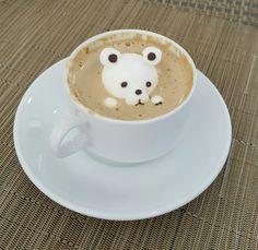 Bear Marshmallow latte art