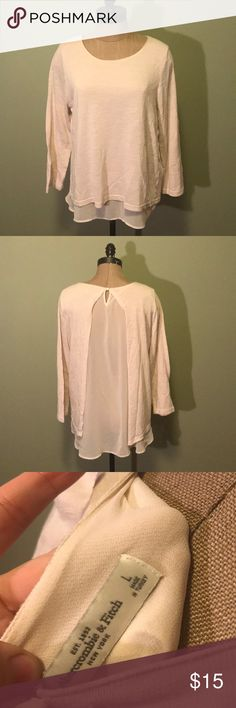 Abercrombie & Fitch lace back top large Abercrombie & Fitch Tan lace back 3/4 sleeve top. Great condition. Abercrombie & Fitch Tops Tees - Long Sleeve