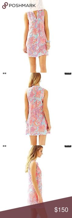 Nwt Lilly Pulitzer dress! NWT Lilly Pulitzer sleeveless Sarasota dress in the print pink pout too much bubbly. Ordered online and it's too big for me and I cannot return it Lilly Pulitzer Dresses Mini