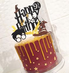 Discover recipes, home ideas, style inspiration and other ideas to try. Harry Potter Snacks, Harry Potter Theme Cake, Harry Potter Motto Party, Bolo Harry Potter, Gateau Harry Potter, Harry Potter Birthday Cake, Birthday Drip Cake, 10th Birthday, 9th Birthday Cakes For Boys