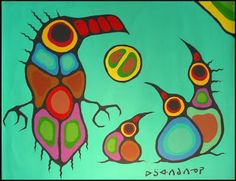 Protection of the Family 1974 by Norval Morrisseau Aboriginal Language, Aboriginal Art, Aboriginal Education, Arte Inuit, Inuit Art, Native American Artists, Canadian Artists, Native Canadian, Arte Tribal
