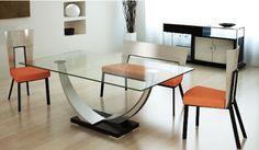 2010 08 modern table design Mesa de comedor de vidrio es ideal para el comedor moderno