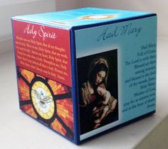 Prayer Cube with Printables - maybe the lower grade families could use this to learn the prayers, commandments, stations of the cross, etc.