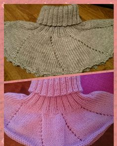 Har strikket to små jente  halser  De er strikket i 3 - 4 år  En dus l...