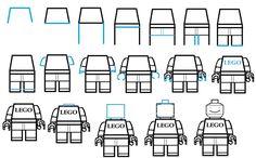 Comment dessiner un homme lego 3128   comment dessiner