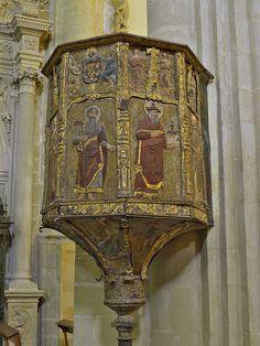 Catedral de Baeza (Jaén). Púlpito - Catedral de la Natividad de Nuestra Señora… Iglesias, Interior, Oriental, Tower, House, Ideas, Murals, Sculptures, Andalusia Spain