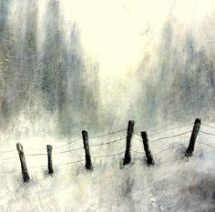 Minimalistische Winterlandschaft   Minimalist winter landscape