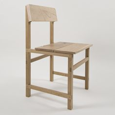 American designers Von Tundra have created an oak dining chair with a raw maple seat and backrest. Called Prairie Chair, it's constructed using pegged T halving joints where the rails sit inside notches cut in the legs. The project draws on vernacular furniture from the American Midwest. Here's some more information from the designers: --