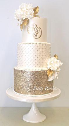 Pretty Parties - Custom Cakes W-20 Wedding Cake www.prettyparties.net.au
