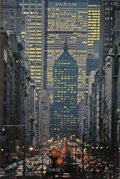 Park Avenue, NYC. 1964. via reddit