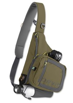 found this Fly Fishing Sling Pack - Safe Passage Sling Pack -- Orvis on ! Fly Fishing Gear, Trout Fishing, Fishing Reels, Fishing Lures, Fishing Basics, Fly Gear, Fishing Kit, Fishing Apparel, Fishing Store