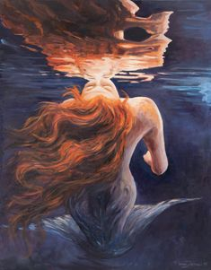 Buy Prints of A trick of the light -SOLD, a Oil on Canvas by Marco Busoni from Italy. It portrays: Fantasy, relevant to: underwater, water, illusion, kiss, lady, light, love, mermaid, mirror, narciso You use a glass mirror to see your face; you use works of art to see your soul.    George Bernard Shaw